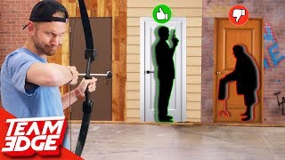 Shoot the Person Behind the Mystery Door!   Don't Choose the Wrong Door!!