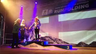 Biathlon-Weltcup 2018: Siegerehrung Damen-Einzel