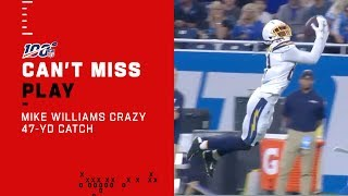 Mike Williams Goes UP for Huge 47-Yd Catch!