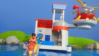 FEUERWEHRMANN SAM deutsch: NEUE Beste Ocean Rescue Feuerwache für Kinder | Feuerwehrmann Sam deutsch