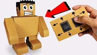 How to make a Walking ROBOT out of cardboard Easy Science Project for Kids | DAH - DIY AT HOME