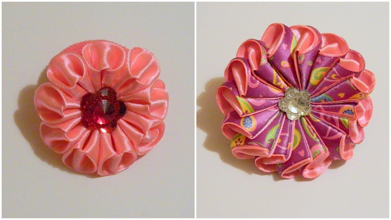 2 способа как сделать цветок зефирку из лент - Bayan.Tv - Bayana dair. - Video Portal