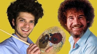 We tried to paint along with Bob Ross...