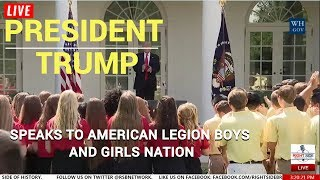 FULL: President TRUMP Takes Pictures; Speaks to American Legion Girls and Boys Nation 7/26/17
