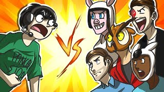 NOGLA vs THE GROUP! - Black Ops 2 Gun Game (Funny Moments)