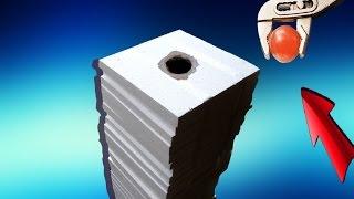 EXPERIMENT - Glühende 700 Grad Metall Kugel VS 300cm Styropor