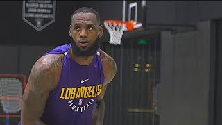 LeBron James First Lakers Workout!