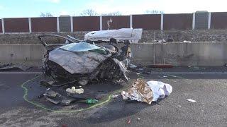 Unfall wegen Falschfahrer - 1 Toter + 4 Verletzte auf A4 Höhe Merzenich am 20.01.17