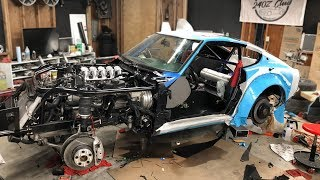 240z Final Assembly Day 2 - First Start Up On New Tune and Bearings