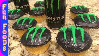 Monster Energy Drink Cupcakes | How to Make Monster Energy Cupcakes