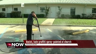 Riverview church vandalized with swastikas, racist graffiti