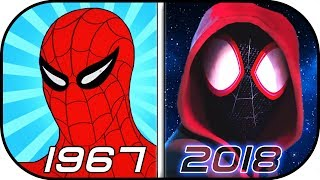 EVOLUTION of SPIDERMAN in Cartoons (1967-2018) History of Animated Spider-man Into the Spider-Verse