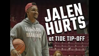 Jalen Hurts joins in on hoops action at Tide Tip-off