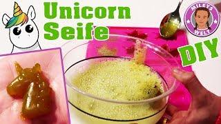 EINHORN DUSCHSEIFE - wie mache ich - UNICORN jelly soap DIY | Mileys Welt