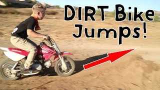 DIRT BIKE JUMPS AND TRAMPOLINES