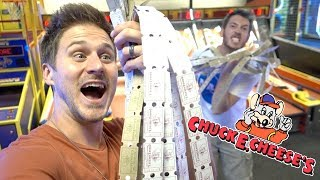 Hogging Chuck E Cheese From Kids!