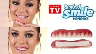 Trying On $14 Veneers! Review and Demo - As Seen on TV!