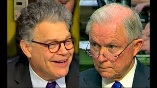 Al Franken LAUGHS at Jeff Sessions trying to answer his questions  10/18/2017