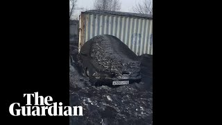 Toxic black snow covers streets in Siberia