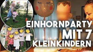 EINHORNPARTY mit 7 KLEINKINDERN I TOTAL CRAZY VLOG I  Mellis Blog
