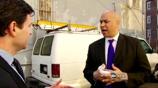 Cory Booker Discusses Fire Rescue