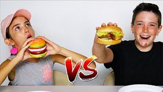 SQUISHIES vs REAL FOOD!!
