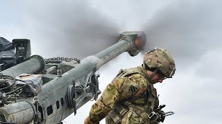 US Soldiers Intense Live Fire Action With the Devastating M777 Howitzer