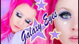 GALAXY EYES makeup tutorial