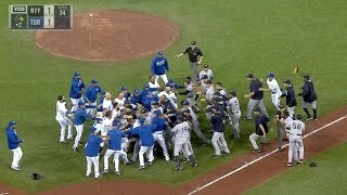 NYY@TOR: Benches clear again when Severino hits Smoak