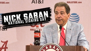 Hear what Nick Saban had to say about National Signing Day 2017 and Alabama