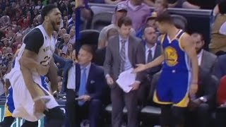 Stephen Curry Gets High Five From Pelicans Bench! Warriors vs Pelicans