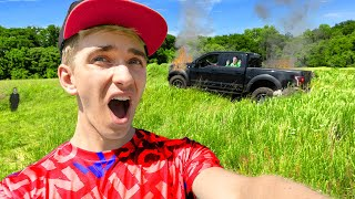 Stranded in GIANT HOLE Coming Home from Sharer Family Vacation!! (Meeting Worlds Fastest Fan)