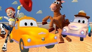 Die Lackierwerkstatt von Tom dem Abschleppwagen: Klein Tom ist WOODIE / Lastwagen Cartoons Kinder