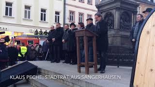 Protestaktion zum Politischen Aschermittwoch in Eisleben