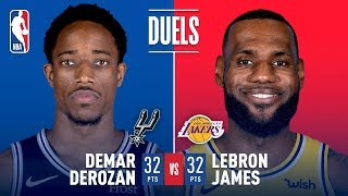 DeMar DeRozan and LeBron James Duel It Out In Staples Center | October 22, 2018