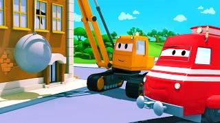 Troy der Zug und Dane der Abrisskran in Car City | Auto & Lastwagen Cartoons für Kinder 🚗 🚚