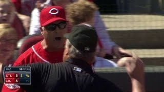 STL@CIN: Price gets ejected for arguing hit-by-pitch