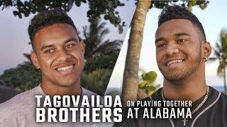 Tua and Taulia Tagovailoa discuss a potential brotherly QB competition at Alabama