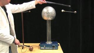 MIT Physics Demo -- Inducing Dipoles with a Van de Graaff Generator