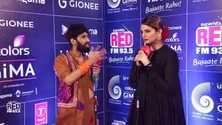 GIMA AWARDS 2016 RED CARPET - Huma Qureshi with KaanPhaad ABHILASH