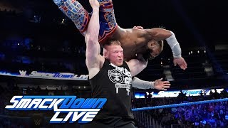 Brock Lesnar assaults Kofi Kingston after The New Day