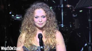 Carrie Hope Fletcher accepts her WhatsOnStage Award