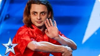 Radu's performance has everyone in a spin! | Auditions | BGT 2018