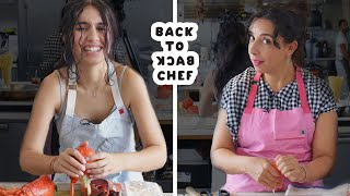 Alessia Cara Tries to Keep Up with a Professional Chef   Back-to-Back Chef   Bon Appétit
