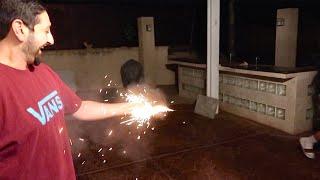 CRAZY FIREWORK ACCIDENT BACKFIRES!! *Gone Wrong*