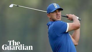 Record-breaking Brooks Koepka extends US PGA lead: 'Today was a battle'