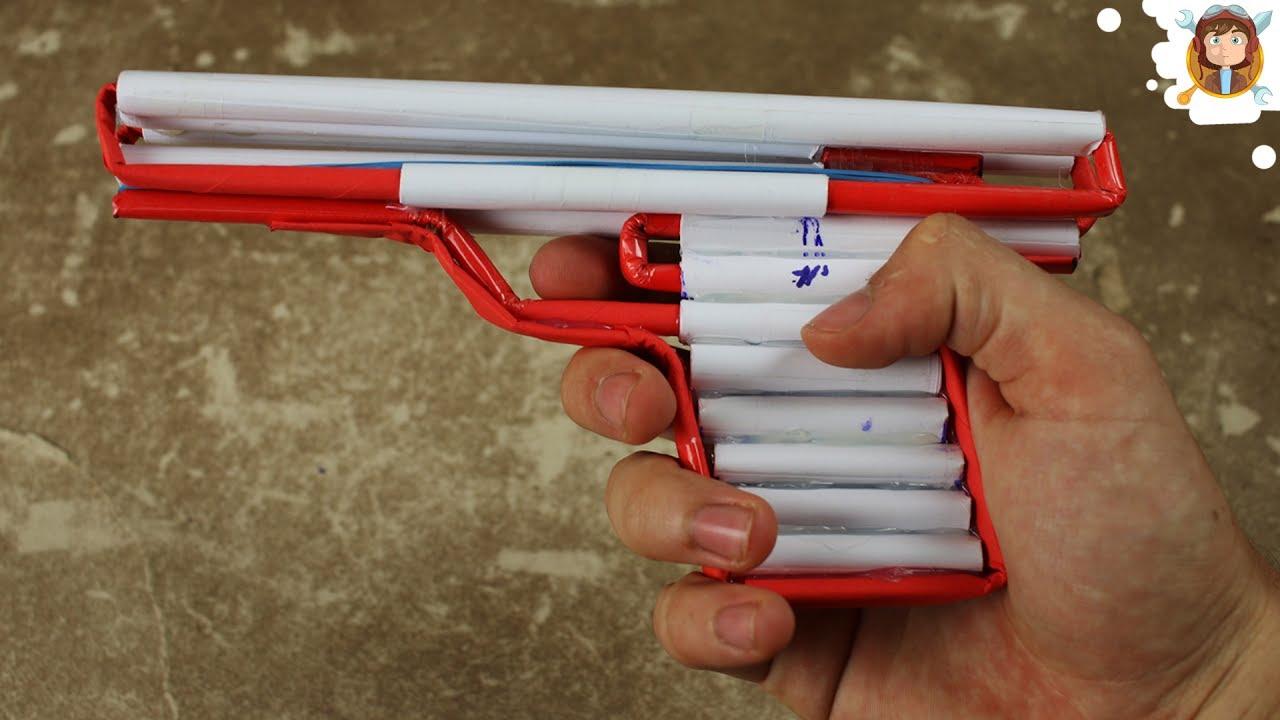 Скачать видео как сделать пистолет из бумаги