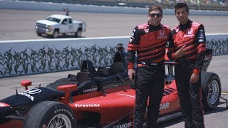 200mph In The Honda Two-Seater Indy Car
