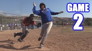 GABE GETS HIT IN THE HEAD!   Offseason Baseball Series   Game 2