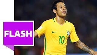 Neymars Traum-Heber und Paulinhos Distanz-Hammer beim 4:1-Sieg Brasiliens gegen Uruguay